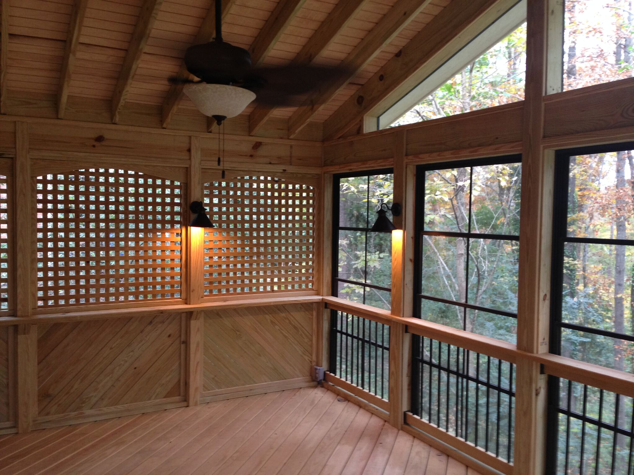 Pros and cons of three season and four season sunrooms for Screen room addition plans